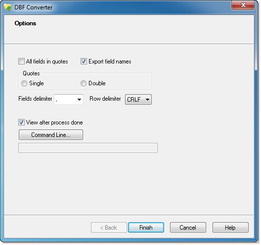 CSV file format options