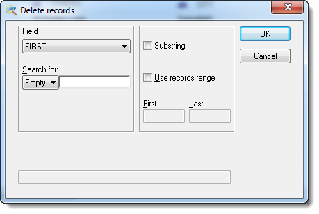 Deleting records in DBF File